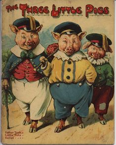 THE THREE LITTLE PIGS...Father Tuck Book