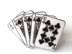 Playing Card Pin Brooch Lapel Pin Tie Pin Poker by GimmeeDatBling, $5.20