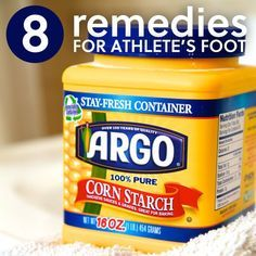 Cornstarch athletes foot cream From: Everyday Roots, please visit Natural Health Remedies, Natural Cures, Herbal Remedies, Natural Healing, Natural Beauty, Itchy Feet Remedy, Athletes Foot Cure, Foot Remedies, Cold Sore