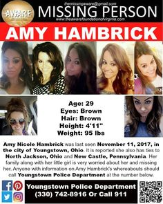 Find missing Amy Nicole Hambrick!She is better known as Amy Jay.She has been missing for two weeks. Missing Children Found, Missing Persons, Amber Alert, Bring Them Home, Picture Sharing, Criminology, Cold Case, Looking For Someone, Have You Seen