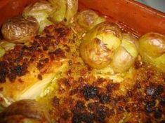 Bacalhau com Broa e Batatas a Murro | SaborIntenso.com