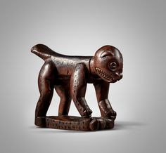 Yaka Zoomorphic Neckrest, Democratic Republic of the Congo | Sculpture from the Collection of Martin and Faith-Dorian Wright2021 | Sotheby's Printing Labels, Museum Of Modern Art, Republic Of The Congo, Lion Sculpture, Auction, African, Faith, Prints, Collection