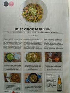 Falso cuscus de brócoli
