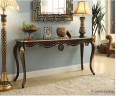 Shiloh Console Table in Bronze - Acme Furniture 97229 Acme Furniture, Entryway Furniture, Furniture Deals, Living Room Furniture, Living Room Decor, Furniture Design, Console Style, Deco Baroque, Consoles