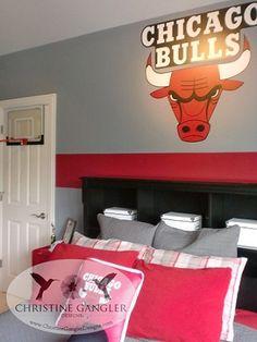 Chicago Bulls themed Kids room created by Christine Gangler Designs