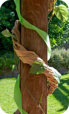DIY vines would work for Neverland, jungle or safari party & Where the Wild Things Are theme.