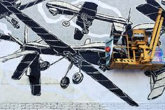 Drone mural by M-City in Barcelona