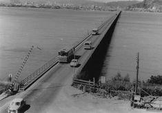 Enterreno - Fotos históricas de chile - fotos antiguas de Chile - Puente Biobío  en 1960 Bridges, World, Old Bridges, Historical Photos, Shells, Antique Photos, Past Tense, Fotografia