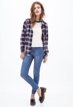 Mid-Rise - Skinny Jeans - Denim - 2000067158 - Forever 21 EU