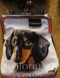 P1006 mäyräkoira koira koiralaukku kehyslaukku colorius
