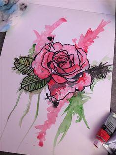 Watercolor - Rose