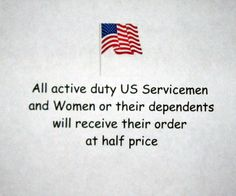 Servicemen's Discount by Call of the Wild Flies on Etsy