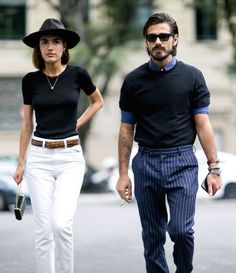 cool cats. #PatriciaManfield & #GiottoCalendoli in Milan.