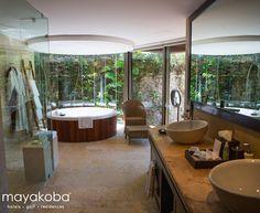 The view from the bathroom of one of #Mayakoba's most luxurious suites… #luxury #STAYmayakoba #MayakobaLife #interiordesign #PlayadelCarmen