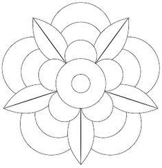 Vorlage für The Bright Owl: Zendala Dare # 41 – applique ideas - Malvorlagen Mandala Mandala Art, Mandala Design, Mandala Drawing, Mandala Pattern, Flower Mandala, Stained Glass Patterns, Mosaic Patterns, Embroidery Patterns, Quilt Patterns