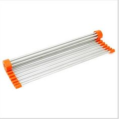 15 pieghevoli drenante rack, acciaio inox 40,8 × 21,5 × 5 cm (16,1 × 8,5 × 2,0 pollici) colore casuale – EUR € 13.63
