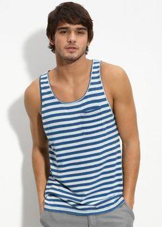 Striped tank top Striped Tank Top, Get In Shape, Tank Man, Tank Tops, Men, Fashion, Getting Fit, Moda, Halter Tops