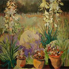 """* Acrylic Painting on canvas * Size: 36""""L. x 36""""W. View all Lila Bacon paintings http://www.sweetheartgallery.com/collections/artist-lila-bacon-acrylic-floral-paintings"""