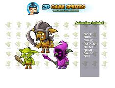 Goblins Game Sprites Set by DionArtworks on 2d Character Animation, Shooting Games, Game Assets, Sprites, Character Illustration, Game Character, Goblin, Comics, Character