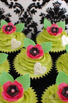 Hot Pink, Black & Lime Green Love