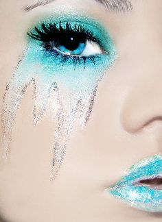 icy turquoise makeup