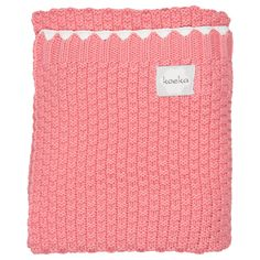 Valencia knitted blanket in tea rose | Koeka webshop