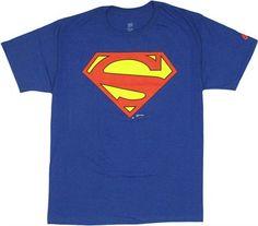 Superman New 52 Logo Blue T Shirt