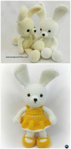 Crochet Spring Time Dress me Amigurumi Bunny Free Patterns #Crochet;