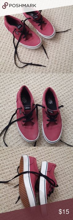 Youth Burgundy Vans Really nice and in great shape. Wear as shown. Darker burgundy than pictured. Vans Shoes Sneakers