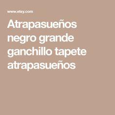 Atrapasueños negro grande ganchillo tapete atrapasueños