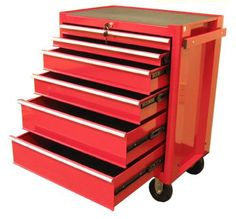 New Excel Professional Industrial Quality Red 27-inch Steel Roller Tool Cabinet