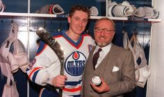 Some said that former Edmonton Oilers owner Peter Pocklington should have been thrown in jail for trading Wayne Gretzky to the Los Angeles. Ice Hockey Players, Nhl Players, Wayne Gretzky, Los Angeles Kings, Edmonton Oilers, National Hockey League, Baseball Cards, That's Entertainment, Alberta Canada