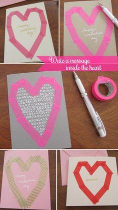 Washi tape valentines. Love!