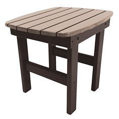 Pawleys Island Durawood Essential Adirondack Side Table  ChocolateWeatherwood ** This is an Amazon Associate's Pin. Click the VISIT button to enter the Amazon website.