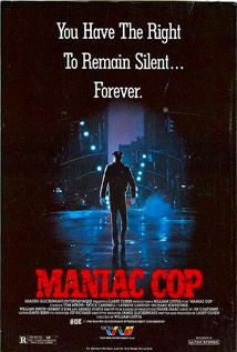 Maniac Cop 1988 A clever twist on the usual slasher tropes & a nice detective mystery mix to make a run of the mill entry a bit a cut above. Throw in a couple of nice performances from 80′s staple Tom Atkins & Bruce Campbell and this late 80′scheese-ballgains a bit more legs. A bit light on the bloody bits & a missed opportunity delivering on the killer's origin story drag it down but all in all not a bad slasher flick. That seems to be the problem. Its not a bad but its just not great…