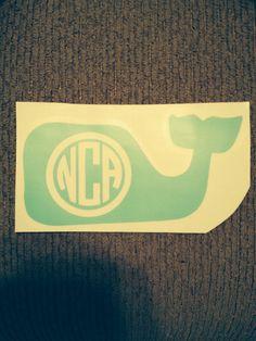 Monogram vineyard vines whale sticker