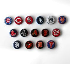 Tie Tack Pin back MLB Major League Baseball by MargsMostlyVintage Chicago White Sox, Boston Red Sox, Best Caps, Yankees News, Major League Baseball Teams, Independent Business, Beer Bottle Caps, Best Gifts For Men, Ubs