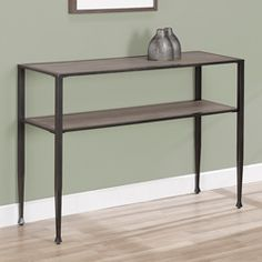 Shuffle Sofa Table - Great Value $129.99 - looks like reclaimed wood and iron.  Overstock.com