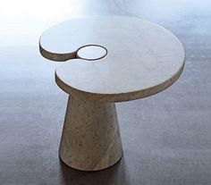 Angelo Mangiarotti Eros Column Table Small