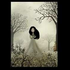 Melancholy Girl Art  Print --- Ides of March --  8x10 | cmzart - Print on ArtFire