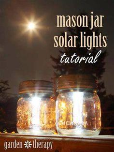 Mason Jar Solar Lights ►►  http://www.diycraftzone.com/mason-jar-solar-lights/?i=p