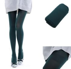 4717f6b5b4 New Color Sexy Women s Opaque Footed Tights Slim Elastic Pantyhose  Stockingdresskily