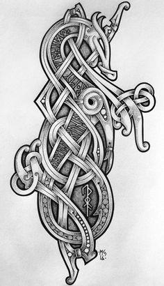 """Подборка эскизов: татуировка в кельтском, славянском и """"северном"""" стиле тату, tattoo, длиннопост, кельты, викинги, северные народы, славяне, эскиз"""