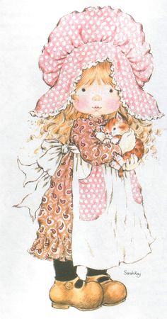 Who Is the Artist Sarah Kay - - Yahoo Image Search Results Sarah Key, Holly Hobbie, Vintage Pictures, Cute Pictures, Hobby Horse, Digi Stamps, Cute Illustration, Illustrations, Vintage Cards