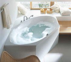 Duravit 2x3 Hexagonal 2000 x 1000mm Bathtub With Frame - 700026