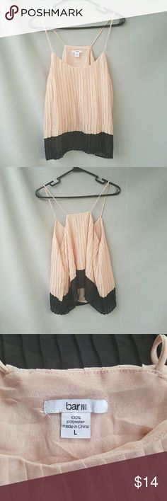 Bar III Pink and Black Pleated Top Excellent condition   Feel free to ask me any additional questions! Bundles 15% off 3+ items. Happy Shopping!! Nordstrom Tops