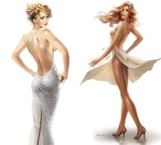 Amy Adams and Jennifer Lawrence American Hustle Fashions - http://www.celeboftea.com/amy-adams-and-jennifer-lawrence-american-hustle-fashions/