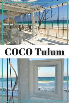 COCO Tulum is an eco-chic resort on the beach in #Tulum #Mexico with beautiful beach cabanas, mind blowing views, bar swings, and #Instaworthy photo opportunities all around. Check out more photos of this dreamy hip hotel and learn about all my BEST recom Cancun Mexico, Mexico Vacation, Mexico Travel, Vacation Spots, Mexico Honeymoon, Italy Vacation, Mexico City, Beach Cabana, Tulum Beach