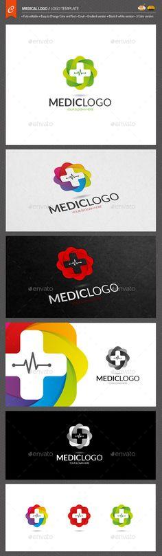 "Medical Logo Template AI Illustrator. Download here: <a href=""https://graphicriver.net/item/medical-logo/12515079?ref=ksioks"" rel=""nofollow"" target=""_blank"">graphicriver.net/...</a>"