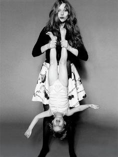 Liv Tyler as a little girl with her mother, Bebe Buell #livtyler #bebebuell  via Harper's Bazaar